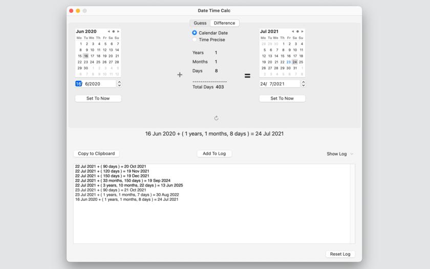 Date Time Calc