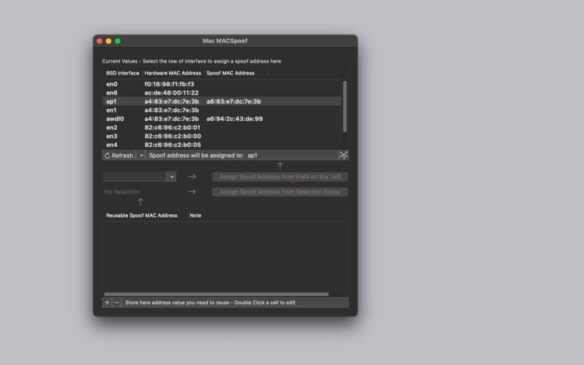 Mac MACSpoof 1.4 Mac 破解版 网络MAC地址修改工具-麦氪搜(iMacso.com)